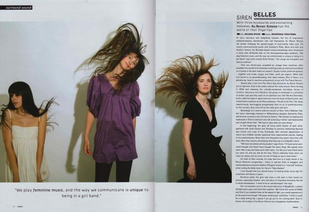 Au Revoir Simone,TRACE magazine
