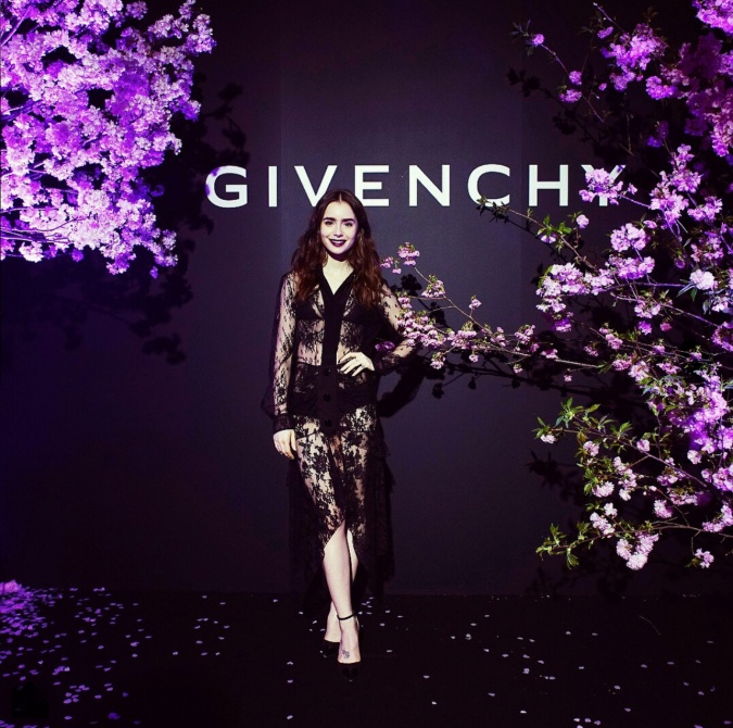 Lily Collins _GIVENCHY World Tour in TOKYO